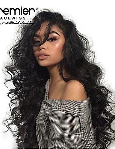 povoljno Perike s ljudskom kosom-Virgin kosa 360 Frontalni Lace Front Perika Duboko udaljavanje stil Brazilska kosa Wavy Natural Perika 130% 150% 180% Gustoća kose s dječjom kosom Prilagodljiv Otporan na toplinu Najbolja kvaliteta