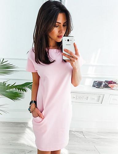 preiswerte Sommerkleider-Damen Grundlegend Etuikleid Kleid Solide Knielang Hohe Taillenlinie / Sexy