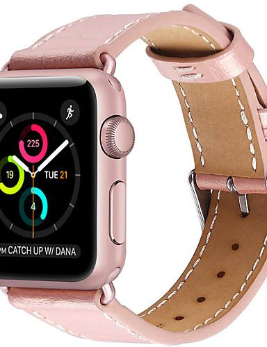 Pogledajte Band za Apple Watch Series 5/4/3/2/1 Apple Klasična kopča Prava koža Traka za ruku