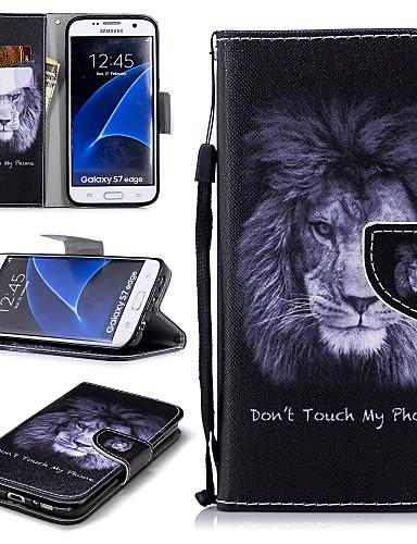 Θήκη Za Samsung Galaxy S7 edge Novčanik / Utor za kartice / Otporno na trešnju Korice Lav Tvrdo PU koža