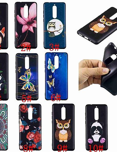 Θήκη Za Nokia Nokia 8 / Nokia 6 / Nokia 5 Uzorak Stražnja maska Rukav leptir / Sova / Panda Mekano TPU