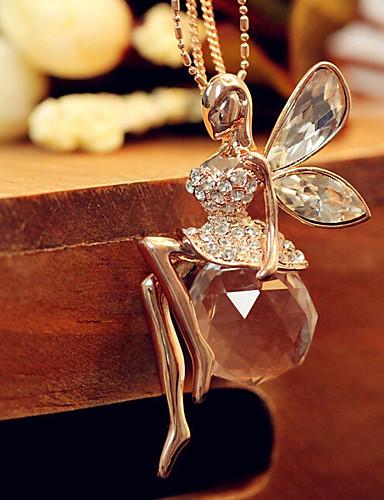 preiswerte Hochzeiten & Feste-Damen Lange Halskette Vintage Stil Prinzessin Modisch Süß Strass Aleación Gold 72 cm Modische Halsketten Schmuck 1pc Für Alltag Strasse