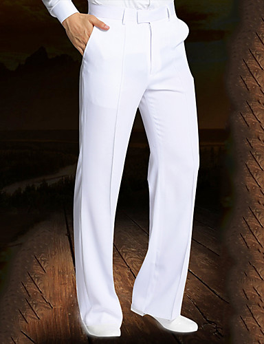 cheap Latin Dancewear-Latin Dance Pants Ruching Men's Performance Natural Spandex