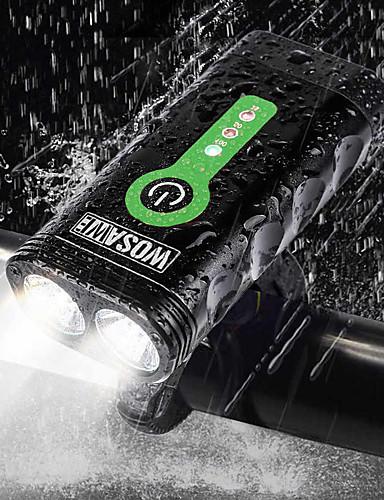 billige Sykling-- Sykkellykter Frontlys til sykkel Sykling Vanntett Bærbar Justerbar Lithium-batteri 2400 lm Sykling - WOSAWE