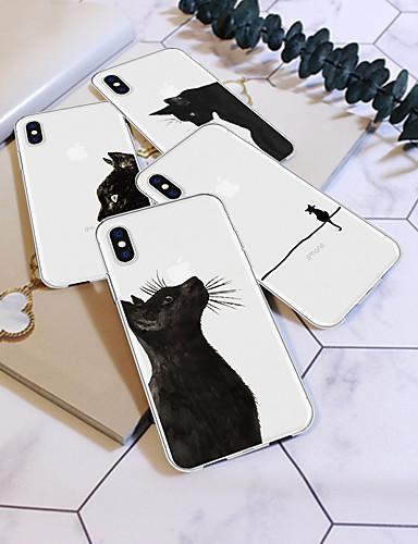 Θήκη Za Apple iPhone XS / iPhone XR / iPhone XS Max Uzorak Stražnja maska Mačka / Životinja / Crtani film Mekano TPU