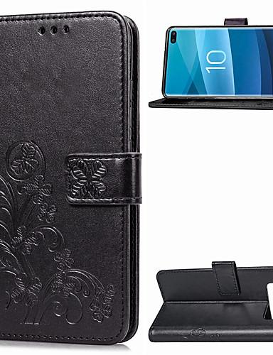 Θήκη Za Samsung Galaxy Galaxy S10 Plus Novčanik / Utor za kartice / sa stalkom Korice Jednobojni Mekano PU koža