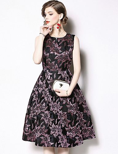 090b5b71a8a Casual Dress A-Line Jewel Neck Knee Length Jersey Cocktail Party ...