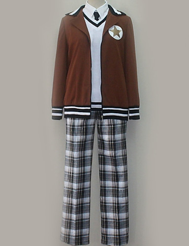 povoljno Anime cosplay-Inspirirana Hetalia Cosplay Anime Cosplay nošnje Japanski School Uniforms Uglađeni Kaput / Mellény / Bluza Za Muškarci / Žene / Top