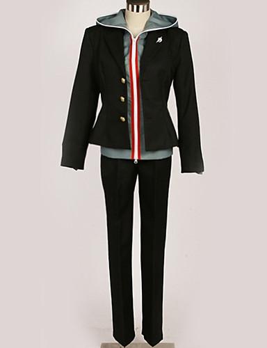 povoljno Anime cosplay-Inspirirana Danganronpa Makoto Naegi Anime Cosplay nošnje Japanski Cosplay Suits Suvremeno Top / Hlače / Kostim Za Muškarci / Žene