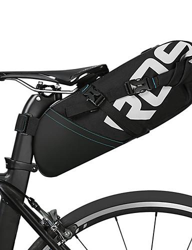 povoljno Biciklizam-ROSWHEEL 10 L Bike Saddle Bag Zamišljen Prilagodljivo Velika zapremnina Torba za bicikl Koža Poliester Torba za bicikl Torbe za biciklizam Biciklizam Bicikl / Vodootporno