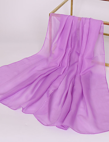 cheap Pack for Seashore-Women's Basic Chiffon Rectangle Scarf - Solid Colored / Fabric