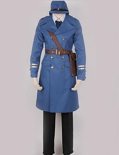 povoljno Anime cosplay-Inspirirana Hetalia Cosplay Anime Cosplay nošnje Japanski Cosplay Suits Jednobojni Kaput / Top / Hlače Za Muškarci / Žene