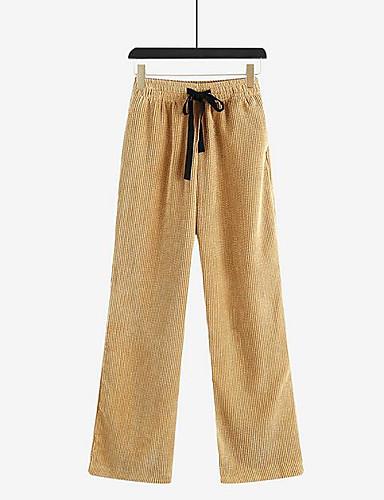 1b794728fb Mujer Chinos Pantalones - Un Color Caqui 7090702 2019 –  27.99