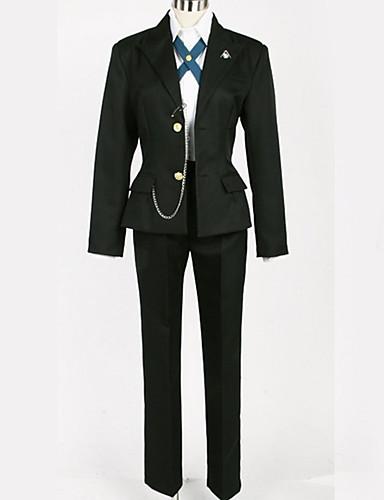 povoljno Maske i kostimi-Inspirirana Danganronpa Byakuya Togami Anime Cosplay nošnje Japanski Cosplay Suits Uglađeni / Black & White Kaput / Bluza / Top Za Muškarci / Žene
