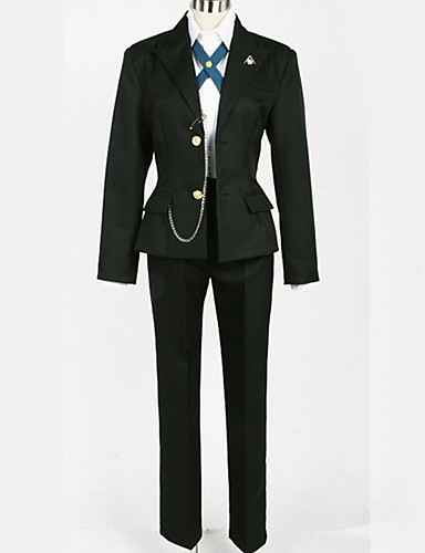 povoljno Anime cosplay-Inspirirana Danganronpa Byakuya Togami Anime Cosplay nošnje Japanski Cosplay Suits Uglađeni / Black & White Kaput / Bluza / Top Za Muškarci / Žene