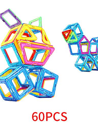 preiswerte Spielzeug & Hobby Artikel-Magnetische Bauklötze Magnetische Fliesen 60 pcs Geometrische Muster Alles Jungen Mädchen Spielzeuge Geschenk