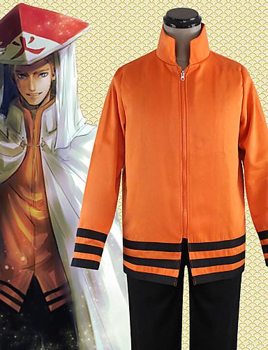 povoljno Anime cosplay-Inspirirana Naruto Hokage / Naruto Uzumaki / Boruto Anime Cosplay nošnje Japanski Cosplay Tops / Bottoms Klasika Dugih rukava Top Za Uniseks