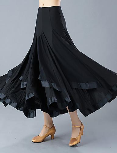 voordelige Shall We®-Ballroomdansen Kleding Onderlichaam Dames Opleiding / Prestatie Polyester Ruches Hoog Rokken