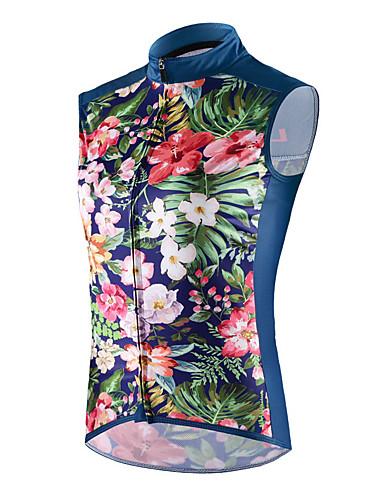 cheap Cycling-cheji® Women's Sleeveless Cycling Vest Summer Dark Blue Bike Jersey Lightweight Breathable Back Pocket Sports Clothing Apparel / High Elasticity