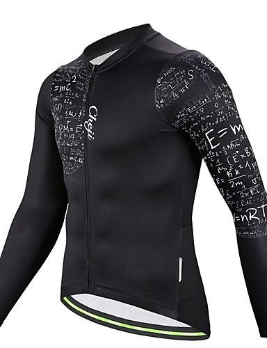 povoljno Biciklizam-cheji® Muškarci Dugih rukava Biciklistička majica Crn Bicikl Biciklistička majica Majice Brdski biciklizam biciklom na cesti Prozračnost Quick dry Sportski Poliester Odjeća