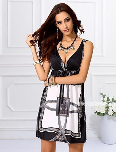 3f0a326ef0 Mujer Básico Delgado Línea A Vestido - Estampado