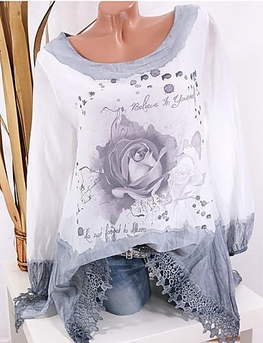 billige Skjorter til damer-Bluse Dame - Blomstret Gatemote Rosa / Vår / Høst
