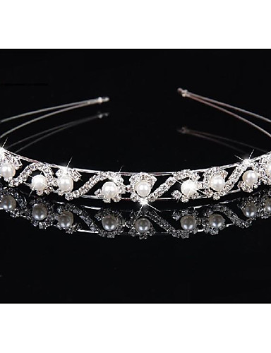 cheap Women's Accessories-Alloy Headbands with Imitation Pearl / Crystal / Rhinestone 1 Piece Wedding Headpiece