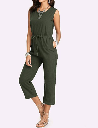 16d89837668f Women s Daily Basic Brown Army Green Jumpsuit
