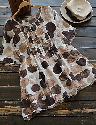 billige T-skjorter til damer-Store størrelser T-skjorte Dame - Geometrisk Grunnleggende Svart