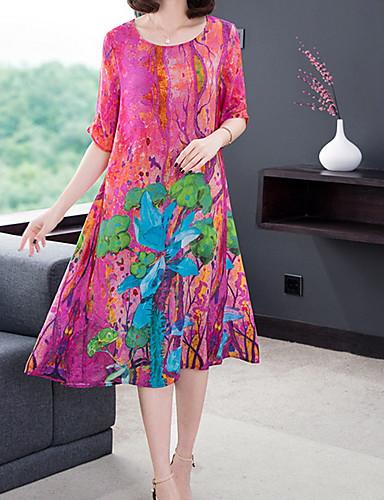 5d7733cebb64 Women's Daily Slim Shift Dress - Floral Print Fuchsia XL XXL XXXL 7132215  2019 – $23.99
