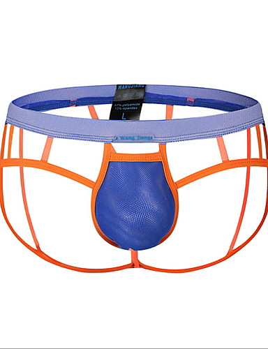 voordelige Herenondergoed & Zwemkleding-Standaard, Kleurenblok G-string ondergoed Heren Lage Taille