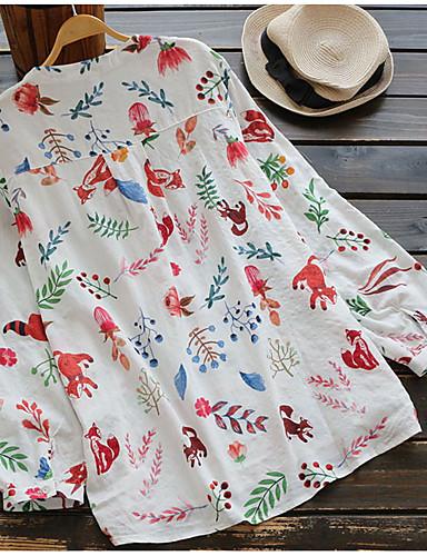billige Dametopper-Bomull Skjorte Dame - Geometrisk