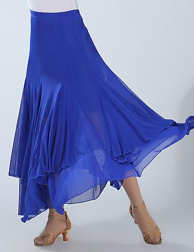 cheap Ballroom Dancewear-Ballroom Dance Skirts Ruching Women's Training Performance High Spandex