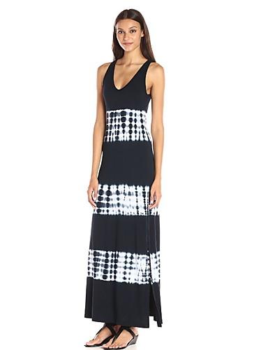 levne Maxi šaty-Dámské Swing Šaty Maxi Vysoký pas