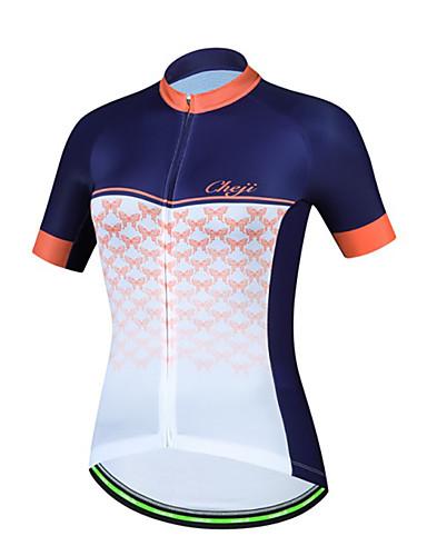 povoljno Odjeća za vožnju biciklom-cheji® Žene Kratkih rukava Biciklistička majica Orange+White Sky Blue+White Pink Bicikl Biciklistička majica Majice Brdski biciklizam biciklom na cesti Prozračnost Sportski Terilen Odjeća