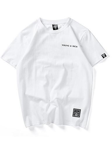 Neck T Shirt Round Asian Size 7126955 2019 Men's Letter dCBreWxo