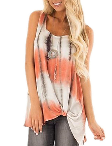 billige Skjorter til damer-Skjorte Dame - Geometrisk Rosa