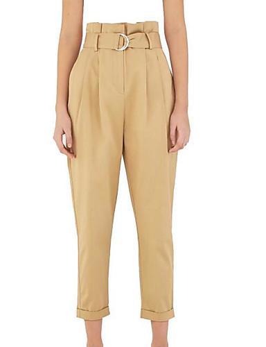 b9939565f9 Mujer Tallas Grandes Delgado Chinos Pantalones - Un Color Caqui 7121102 2019  –  23.99