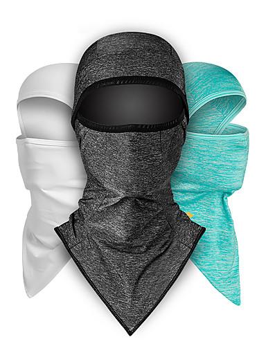 povoljno Odjeća za vožnju biciklom-CoolChange maskirne kape Face Mask Jedna barva UV otporan Prozračnost Puha Izzadás-elvezető Bicikl / Biciklizam Tamno siva Zelen Siva Poliester za Muškarci Žene Odrasli Vježbanje na otvorenom