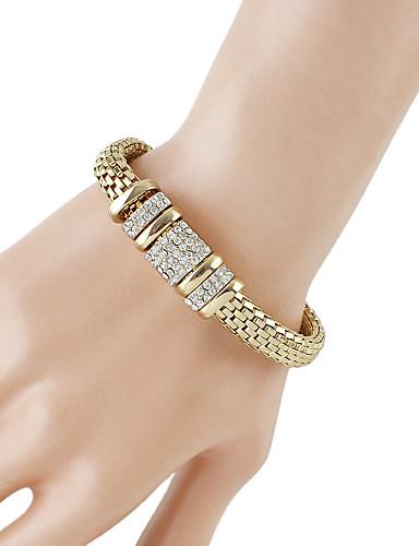 preiswerte Armband Rosegold-Damen Ketten- & Glieder-Armbänder Dicke Kette Baht-Kette Modisch Strass Armband Schmuck Gold Für Alltag Verabredung
