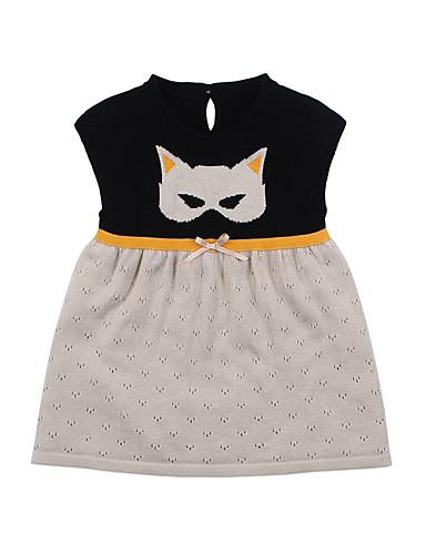 465f3eb4c [$14.95] Baby Girls' Active Daily Black & White Color Block Patchwork Short  Sleeve Regular Regular Knee-length Cotton Dress Blushing Pink / Toddler