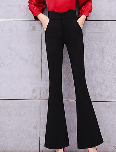 Color 7119365 Slim Sólido 2019 Pantalones Mujer Chinos De Negro Iw614Uq 3ebaf04c5601