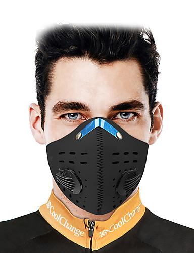 povoljno Odjeća za vožnju biciklom-CoolChange Sportska maska Face Mask Jedna barva Vodootporno Vjetronepropusnost Prozračnost Prašinu Bicikl / Biciklizam Crn za Muškarci Žene Odrasli Vježbanje na otvorenom Trčanje Bicikl Jedna barva