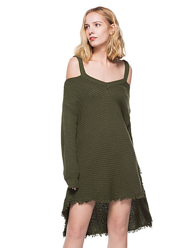 392c9fa8cff6b8 Women s Daily Elegant Sweater Dress - Solid Colored Tassel Strap Army Green  One-Size   Sexy 7122230 2019 –  32.99