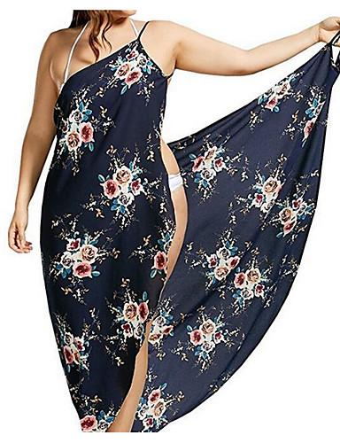 8c1289cda2 Women s Plus Size Strap White Navy Blue Cheeky Cover-Up Swimwear - Floral  XXXL XXXXL XXXXXL White   Sexy 7137731 2019 –  16.99