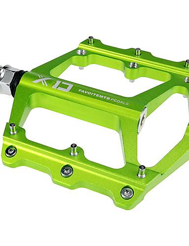 preiswerte Pedale-Mountainbike-Pedale Flache & Plattform Abgedichtetes Lager Rutschfest Langlebig 2 Auflagerung Aluminium für Radsport Rennrad Geländerad Freizeit-Radfahren Grün