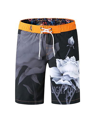 billige Herrebukser og -shorts-Herre Strandstil Tropisk Badebukser Nederdeler Badetøy Badedrakt - Geometrisk M L XL Lyseblå Gul Oransje