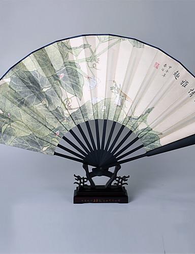 povoljno Maske i kostimi-Odrasli Muškarci Žene Azijski Kićanka Kineski stil Cosplay Nošnje Za Party Svakodnevica Dar Silk Cloth Bambus Sklopivi ručni ventilator
