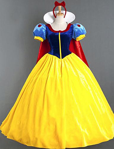 povoljno Movie & TV Theme Costumes-Princeza Povorka maski Žene Filmski Cosplay Princeza Bijela Haljina Plašt Halloween Karneval Maškare Pamuk Polyster