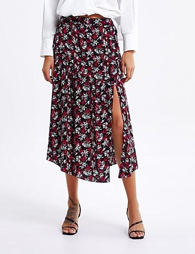 261befd7926c [$24.74] Mujer Chic de Calle / Tejido Oriental Línea A Faldas - Separado /  Estampado, Floral / Geométrico